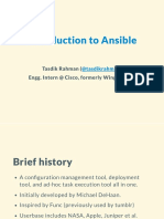 Intro to Ansible