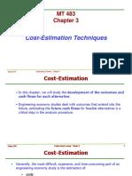 MT483 Chap3 Cost-Estimation Techniques