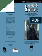 CHDDM1 Il Sigillo d'Ambra (serie Dangers & Demons) Copertina Unica