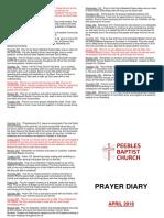 Prayer Diary April 2018