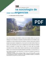 Buenaventura de Sousa Santos - Para una sociología de las emergencias.doc
