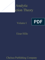 Hille E - AnalyticFunctionTheory