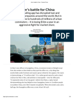 Uber's Battle for China Financial Times