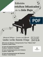 Revista Los Caprichos Musicales de la Isla Baja 2018