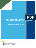 Massachussetts Math Curriculum Framework - 2017