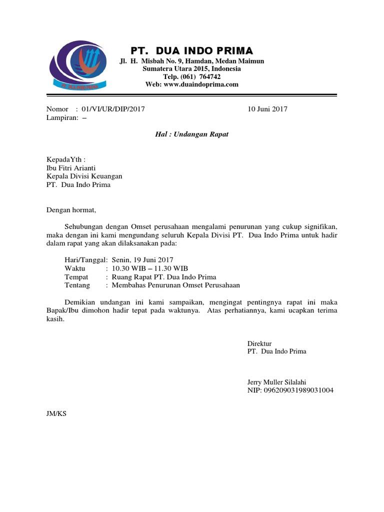 Surat Undangan Rapat Docx
