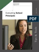 Evaluating School Principals