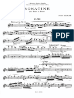 Pierre Sancan - Sonatina for Flute and Piano