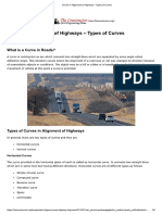 Curves in Alignment of Highways - Types of Curves