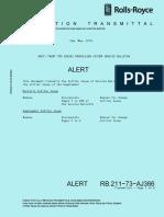 TRENT 700 73-AJ366