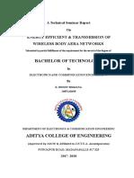 A Technical Seminar Report