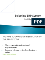 Selecting ERP System 2016