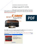 Cara Reset Printer Canon IP 2770‎
