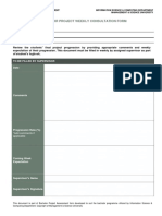 Consultation Form Sample