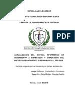 Perfil de tesis programacion