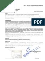 Proyecto Resolución Retiro de Automóvil de la calle Manuel Castro