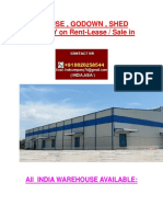 Warehouse , Godown , Shed Property on Rent-lease Sale in India