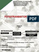 Fototransistor e Fet