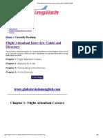 Flight Attendant Interview Guide and Directory _ Inglês Aviação