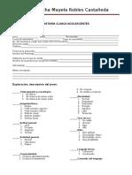 Formato Historial Clinico Psicologicos Adolescente