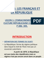 L'ENRACINEMENT DE LA REPUBLIQUE