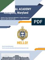 united states naval academy governance