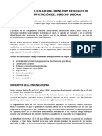 Normativa Laboral. Principios Generales Del Derecho Laboral