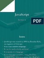 Lecture 1 JavaScript