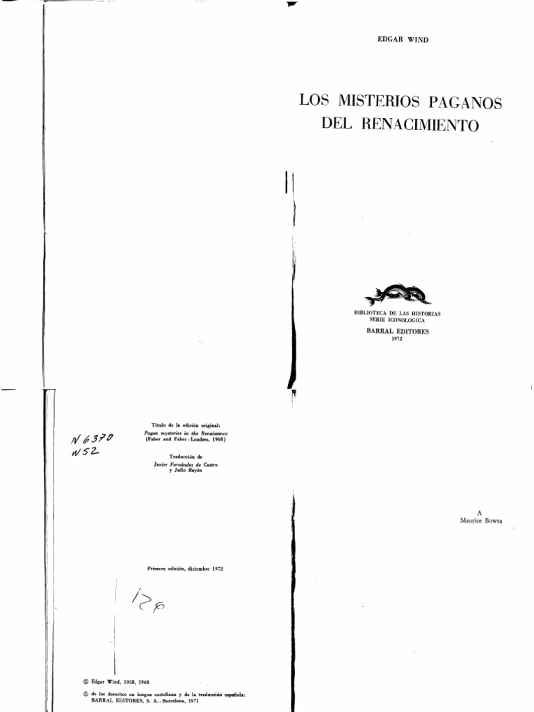 WIND, Edgar - Los Misterios Paganos Del Renacimiento.pdf