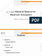 From Material Balance to Reservoir Simulation