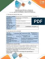 Guía de Actividades y Rubrica de Evaluación Paso 2 Elaborar Las Generalidades, Planeación y Organización en La Empresa Tostao