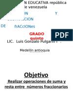 Suma y Resta de Fraccionarios 5c2b0
