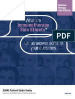 ESMO Patient Guide on Immunotherapy Side Effects