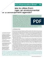 Reducing risks to cities