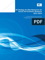 UK Strategy for Data Resources for Social and Economic Research