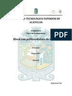 Block Politereftalato de Etileno