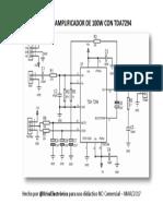 Amplificador 100w kriss electronics