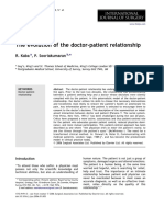 The Evolution of the Doctor-patient Relationship