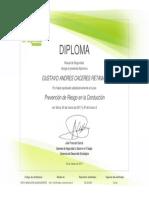 Certificado - Prevención de Riesgo en la Conducción