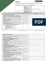 Pressure Vessel Compliance Checklist