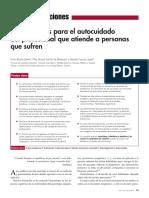 Autocuidado e Benito y Cols 2011 Fmc