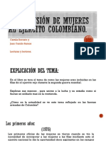 El Reclutamiento de Mujeres en El Ejercito Colombiano
