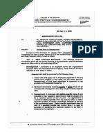 Civil Service Memorandum Circular No. 2, s. 2005