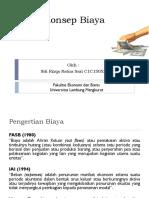 Konsep Biaya (Siti Rizqa Ratna Sari)