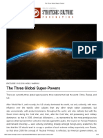 The 3 Global Super-Powers