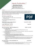 teaching resume mlv