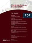 Criminological Encounters  Vol 1 (1) 2018
