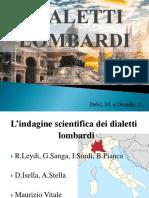 Presentazione Dialetti Lombardi