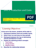 Lecture #3- Production and Costs