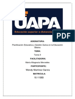 Tarea 3 de Planificacion Educativa y Gestion Aulica.